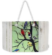 Birds In The Tree Framed Weekender Tote Bag