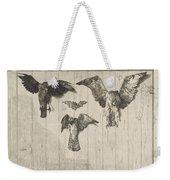 Birds Nailed To A Barn Door (le Haut D'un Battant De Porte) Weekender Tote Bag