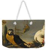 Birds On A Balustrade, Melchior D'hondecoeter, C. 1680 - C. 1690 Weekender Tote Bag