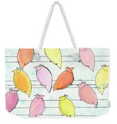 Quail On A Wire Weekender Tote Bag