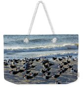 Birds On The Beach Weekender Tote Bag