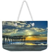 Birds On The Roof Sunrise Tybee Island Weekender Tote Bag