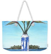 Birds Over Paradise Flowers Weekender Tote Bag