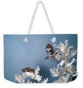 Birds Playing In Infrared Weekender Tote Bag by Brian Hale