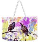 Birds Stare Nature Songbird  Weekender Tote Bag