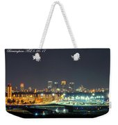 Birmingham Airport ,skyline Weekender Tote Bag