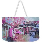 Birmingham Canal Watercolor Weekender Tote Bag