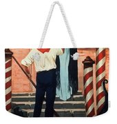 Birra San Marco, Venezia, Italy - Woman With Beer Glass - Retro Travel Poster - Vintage Poster Weekender Tote Bag