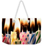 Birthday Candles Weekender Tote Bag by Garry Gay
