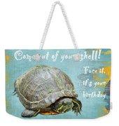 Birthday Card - Painted Turtle Weekender Tote Bag
