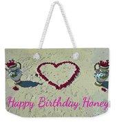 Birthday Card For Lover Weekender Tote Bag
