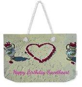 Birthday Card For Sweethearts Weekender Tote Bag