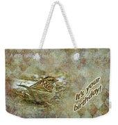 Birthday Greeting Card - White-throated Sparrow Songbird Weekender Tote Bag