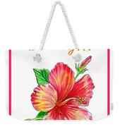 Birthday Hibiscus Weekender Tote Bag