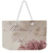Birthday Wishes - Candles, Crystal And Roses Weekender Tote Bag