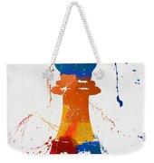 Bishop Chess Piece Paint Splatter Weekender Tote Bag
