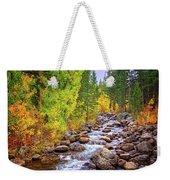 Bishop Creek In Autumn Weekender Tote Bag