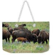 Bison And Lupine Weekender Tote Bag