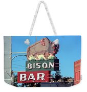 Miles City Montana - Bison Bar Weekender Tote Bag