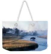 Bison Crosses The Firehole River Weekender Tote Bag