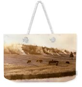 Bison Firehole River Yellowstone Weekender Tote Bag