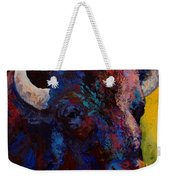 Bison Head Study Weekender Tote Bag