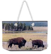 Bison In Yellowstone Weekender Tote Bag