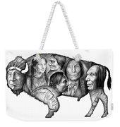 Bison Indian Montage Weekender Tote Bag