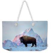 Bison Mountain Sunset Weekender Tote Bag