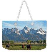 Bison Range Weekender Tote Bag