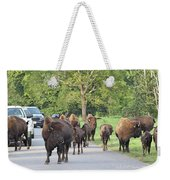 Bison Traffic Jam Weekender Tote Bag