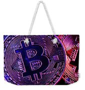 Bitcoin Coins In A Mysterious Lighting Weekender Tote Bag
