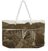 Bixby Creek Aka Rainbow Bridge Bridge Big Sur Photo  1937 Weekender Tote Bag