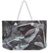 Black Abstract Weekender Tote Bag