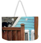 Black Alley Cat Weekender Tote Bag