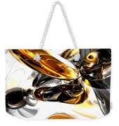 Black Amber Abstract Weekender Tote Bag