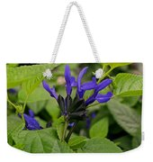 Black And Blue Salvia Weekender Tote Bag