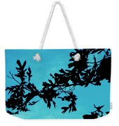 Black And Blue Silhouette Weekender Tote Bag