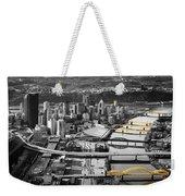 Black And Gold Pittsburgh  Weekender Tote Bag