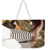 Black And Gray Stockings Weekender Tote Bag