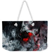 Black And Red Abstract Painting  Weekender Tote Bag