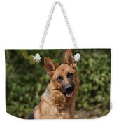 Black And Red German Shepherd Dog Weekender Tote Bag