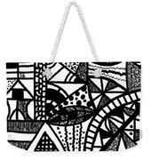 Black And White 16 Weekender Tote Bag
