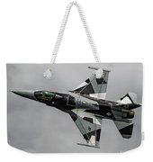 Black And White 18th Aggressor Sqn Viper Topside Against The Grey Weekender Tote Bag