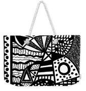 Black And White 19 Weekender Tote Bag