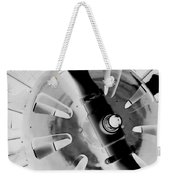 Black And White Abstract 1 Weekender Tote Bag