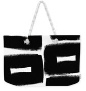 Black And White Abstract- Abstract Painting Weekender Tote Bag