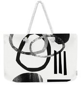 Black And White- Abstract Art Weekender Tote Bag