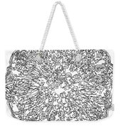 Black And White Abstract Background Weekender Tote Bag