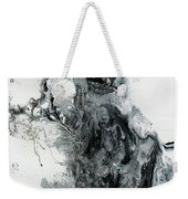 Black And White Abstract Painting  Weekender Tote Bag
